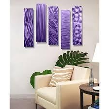 purple rectangular metal wall art accent multi panel wall modern contemporary art decor  on rectangular metal wall art with purple rectangular metal wall art accent multi panel wall modern
