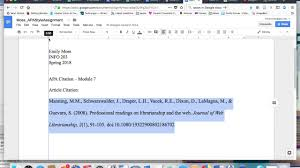 Hanging Indent Citation In Apa Format Tutorial Google Docs