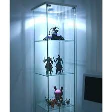 glass curio display cabinet interior decor ideas cabinets for a best ikea detolf black