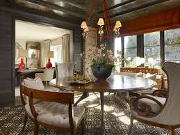flower arrangement decorations for warm dining room paint colors with big round dining table and large carpet