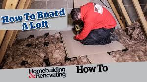how to board a loft advice