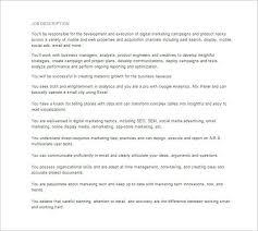 Digital Marketing Job Description   Oakandale.co