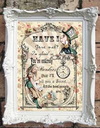 on alice in wonderland framed wall art with alice in wonderland wall art alice in wonderland quote print