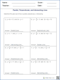 parallel and perpendicular lines worksheet parallel and perpendicular lines worksheet line worksheets skew writing equations of