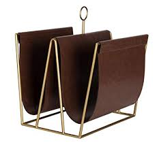 Faux Leather Magazine Holder New Amazon Kate And Laurel Alton Metal And Faux Leather Magazine