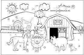 Kleurplaten Kinderboerderij Paard Schaap Varken Big Schuur En