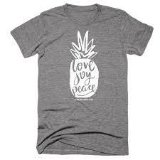 Christian Summer Camp T Shirt Designs Pineapple Love Joy Peace Galatians Christian T Shirt In