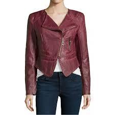 womens burdy faux leather cropped biker jacket zoom womens