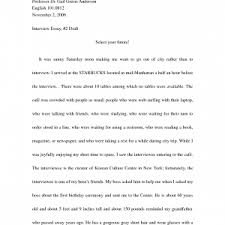 writing an interview essay example job papers cover letter  examples of interview essays cover letter template for example of interview essay book example