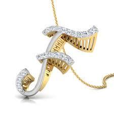 Zane Alphabet F Pendant Jewellery India Online Caratlane Com