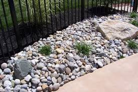 Design of River Rock Landscaping Ideas River Rock Dry Creek Bed Landscaping  Idea For Your Front