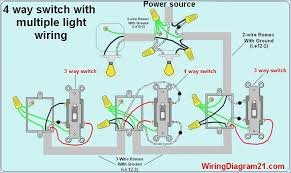pretty 4 way switch wiring diagrams multiple lights ideas