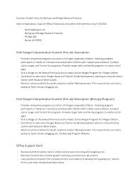 National Park Ranger Resume Park Ranger Resume Ninjaturtletechrepairsco 4