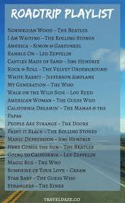 Songs For The Road Road Trip Playlist The Best Songs For A Great American Road