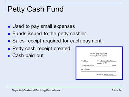 Petty Cash Reimbursement Petty Cash Fund