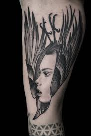 Tattoo Uploaded By Hypermantattoos Raven Crow Ladyhead