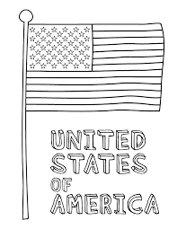 Winter holidays, new year or christmas bunting flags coloring page, poster, sign or banner black and white activity sheet. American Flag Coloring Pages Best Coloring Pages For Kids
