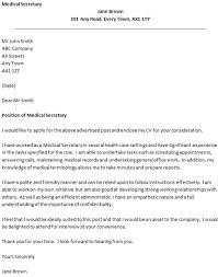 Cover Letter For Secretary Position Adriangatton Com