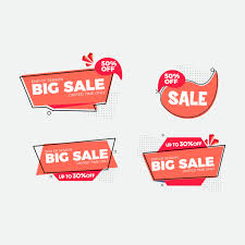 Set Of Flat Design Sale Stickers Vector | Premium Download