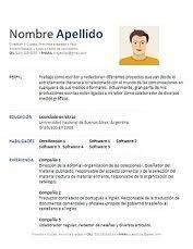 59 Formatos De Hoja De Vida En Word Para Descargar Gratis Y En Espanol