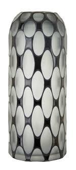 rv astley emma grey and black glass tall vase