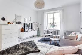 Studio Apartment All White And Free Of Clutter