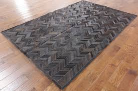 patchwork cowhide area rug 6x9 p3292 1113