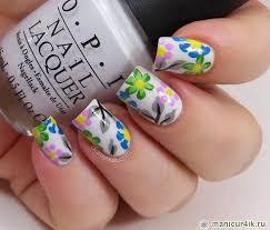 Bílé Květy Na Nehty Manikúra S Květinami Pro Krátké Nehty Květiny