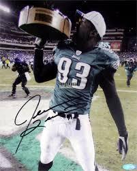 jevon kearse hand size football collectible jevon kearse hand signed eagles celebration