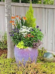 landscaping large outdoor potted plants for caring
