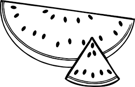 Small Picture A Sliced Summer Watermelon Half And Triangle Coloring Page