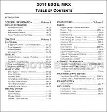 2011 ford edge and lincoln mkx repair shop manual original 2 2011 ford edge and lincoln mkx repair shop manual original 2 volume set