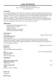 plumber resume templates   riixa do you eat the resume last apprentice plumber example a l services limited