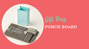 Image result for stampin up youtube gift bag punch board