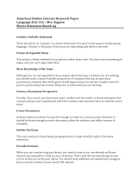 Research Paper Thesis Statements Essay Example