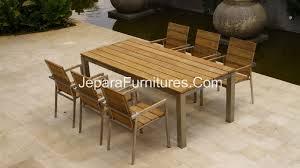 stainless steel outdoor dining table inspirational teak outdoor furniture manufacturer jepara teak furniture