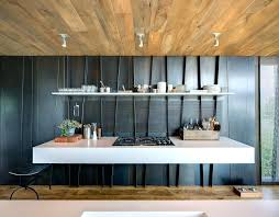 floating granite countertop contemporary kitchen sweet baby pink