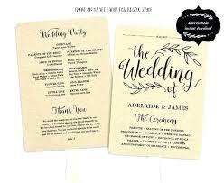 Wedding Programs Template Free Free Wedding Ceremony Program Template