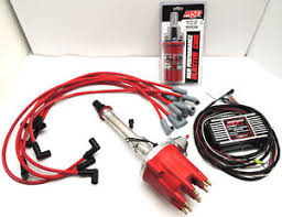 msd billet distributor sbc pro billet ignition system w coil distributor box wires sbc