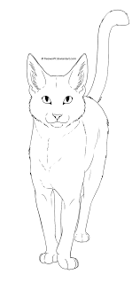 warrior cat drawing outline. Brilliant Cat Cat  Free Lineart By Freewolf7 On DeviantArt Inside Warrior Drawing Outline I