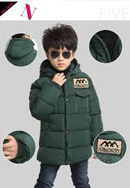 long boys winter jacket thick kids winter coat down cotton padded children winter outwear for 5