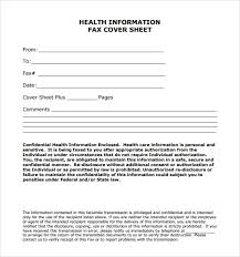Example Of A Fax Message Sample Confidential Fax Cover Sheet Template 7 Free Documents In Pdf