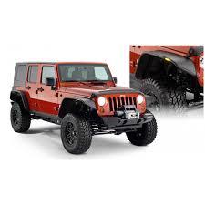 2007 2018 jeep wrangler jk 4dr flat style fender flares bushwacker 10918 07 front rear set