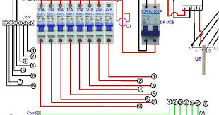 distribution board wiring for single phase electrical