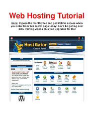 Web Hosting Tutorial For Beginners Hostgator Godaddy Complete Web Hos…
