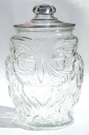 clear cookie jar vintage wise old owl clear glass gallon canister cookie jar w lid clear