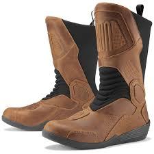 icon men s joker waterproof brown leather boots