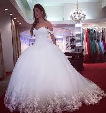 Prinzessin Wei Brautkleider Mit Spitze Schulterfrei T Ll Kleider