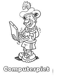 Kleurplaat Computerpiet Zwarte Piet Kleurplatennl Sinterklaas
