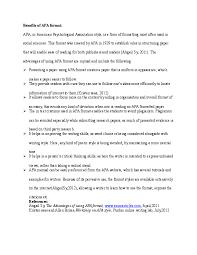 Doc Benefits Of Apa Format Mounika Pratapa Academia Edu